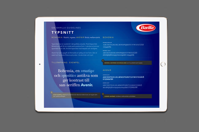 Barilla Foodservice guidelines